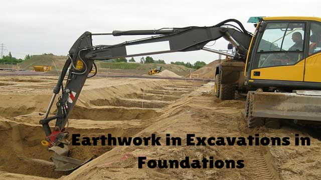 Earthwork in Excavation
