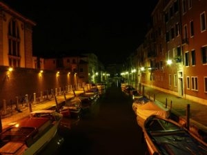 Street lighting in Venice