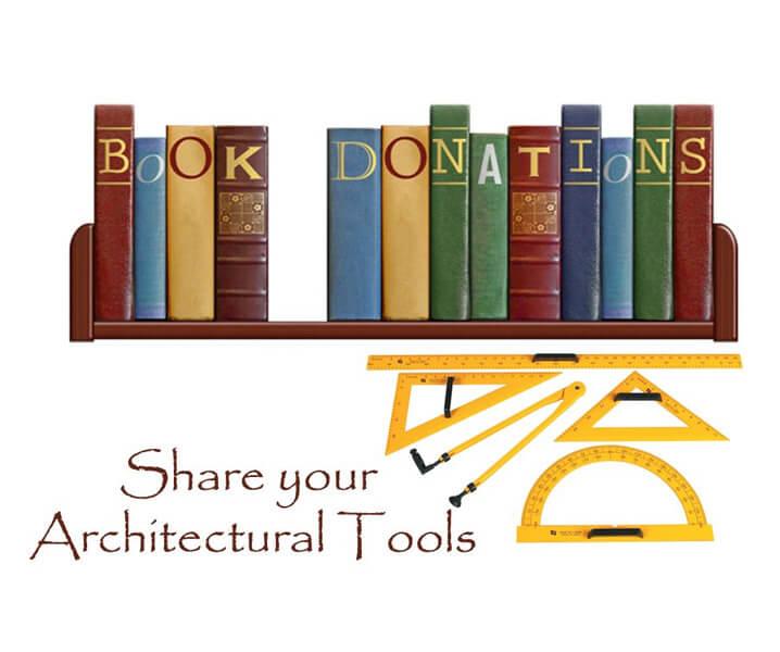architecture books donation