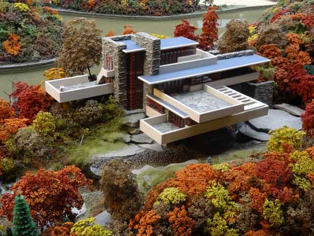 Falling Water House miniature model