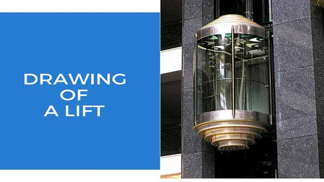 Drawing of lift elevator