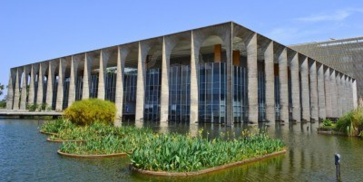 The Itamaraty palace of brasilia