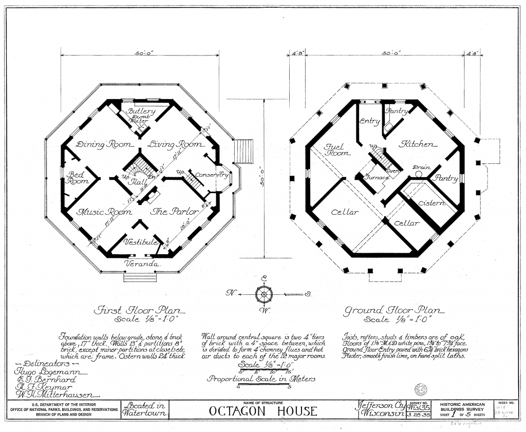 Watertown Octagon House plans