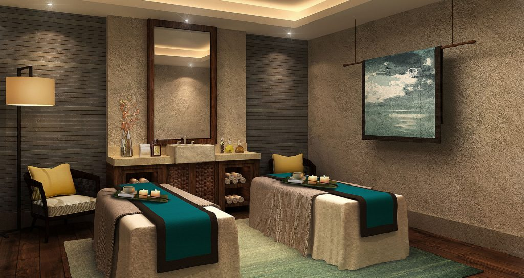 Spa massage room