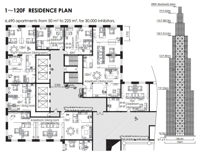 sky city floor plans