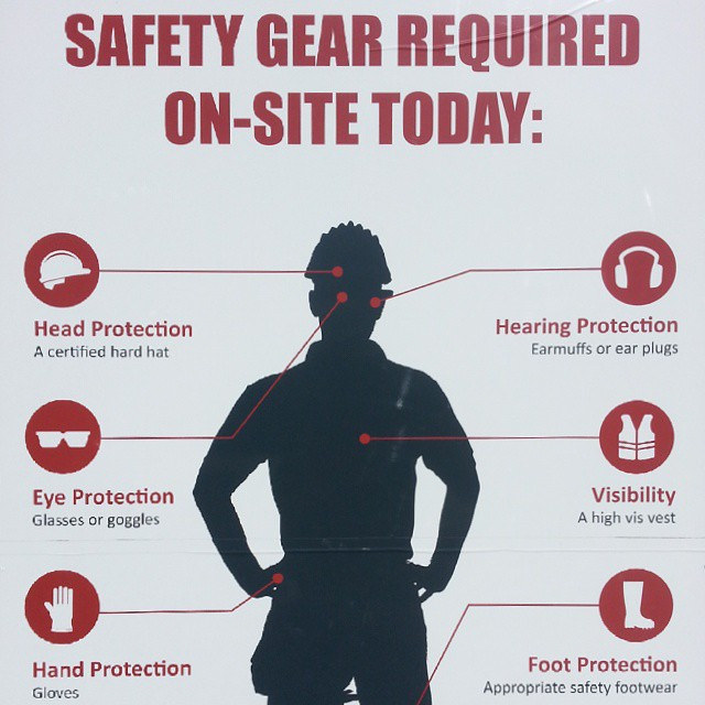 Safety gears required on site