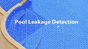 Swimming Pool leak detection service