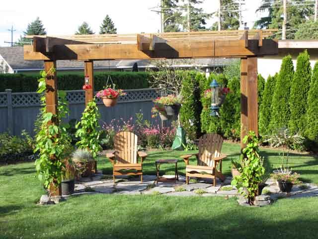 Wooden-Pergola-and-furniture-in-kitchen-garden