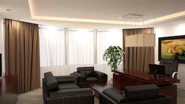 types of curtains for offices