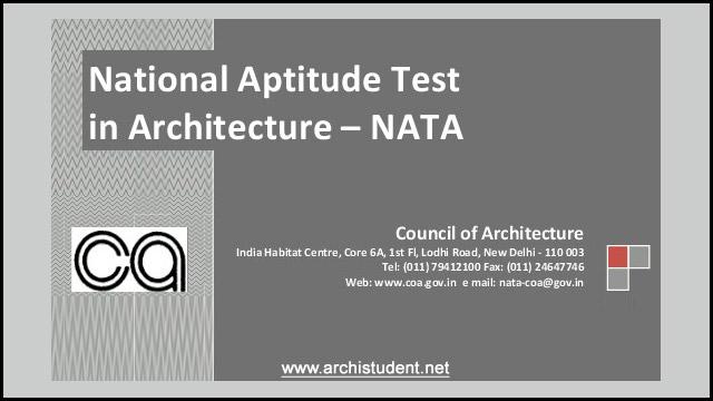 NATA - national aptitude test in architecture