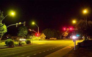 Narrow-Band Amber (NBA) LED Street Lights