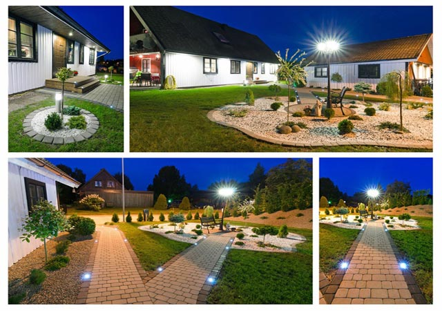 LED downlights for garden