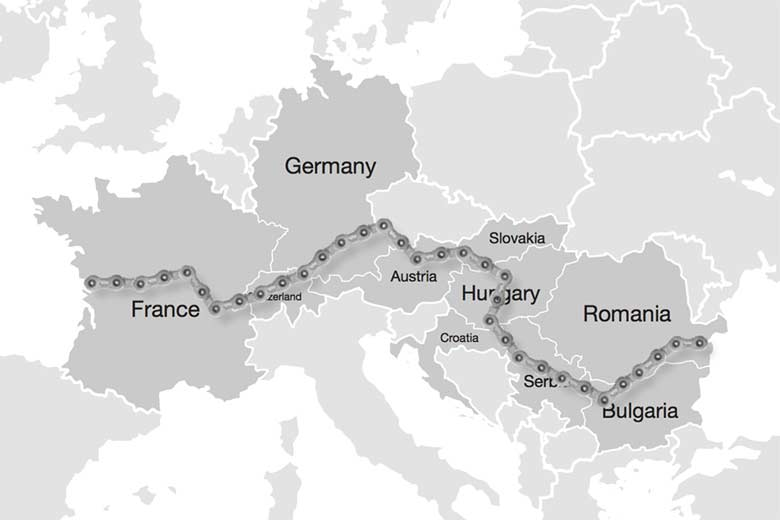 european velo stops routemap