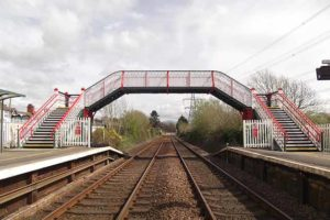 Footbridge Llanfairpwll station, Anglesey