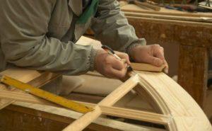 carved wooden window frame