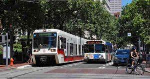 Public Transportation Tram Bus Cars Road people