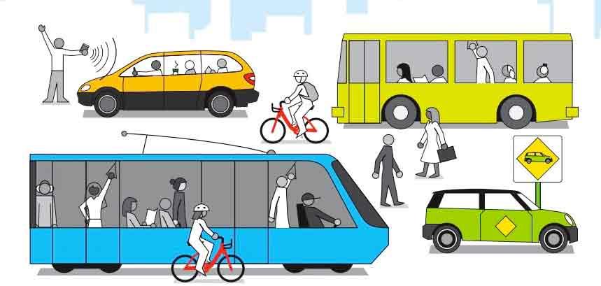 Benefits of Public Transportation vector