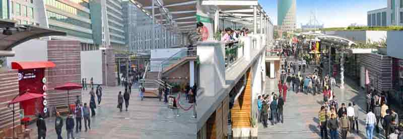 DLF Cyber City in Gurgaon with 100% Pedestrianization